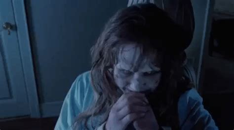 the exorcist film headspin laugh gif find share on giphy