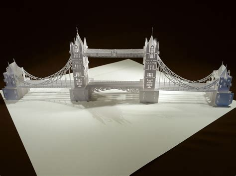 How To Make An Origami Bridge - the tower bridge pop up origami architecture kirigami