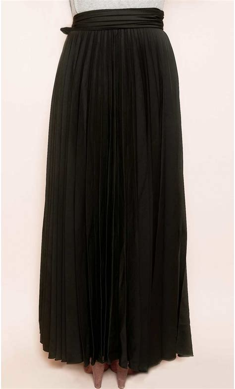 pleated maxi skirt mondefile