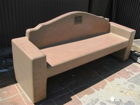 precast benches park site furnishings