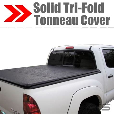 hard tri fold bed cover lock tri fold hard solid tonneau cover for 2004 2014 ford