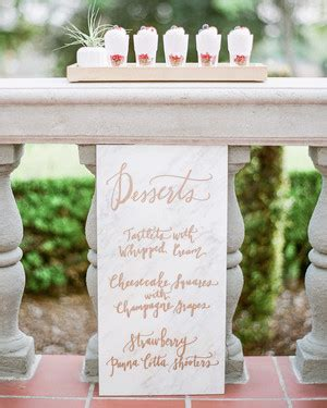 The Best Wedding Dessert Menu Ideas
