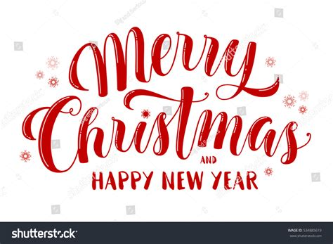 merry christmas happy  year text stock vector  shutterstock