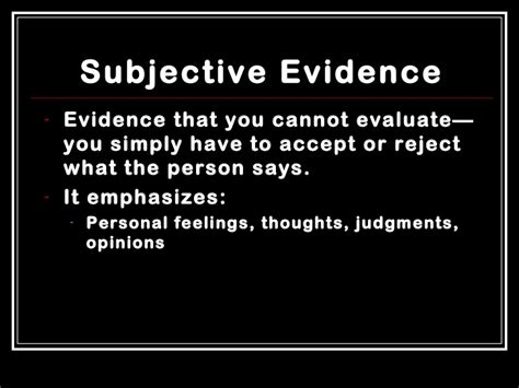 exles of objective and subjective statements subjective vs objective writing