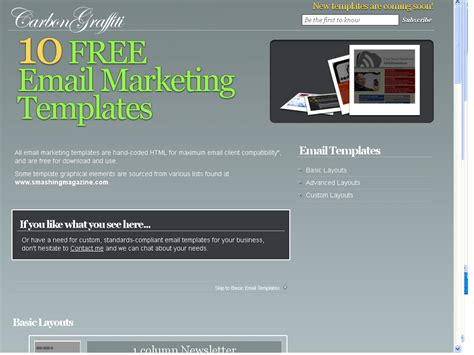 free email marketing templates for gmail best newsletter and email marketing templates websitesfree