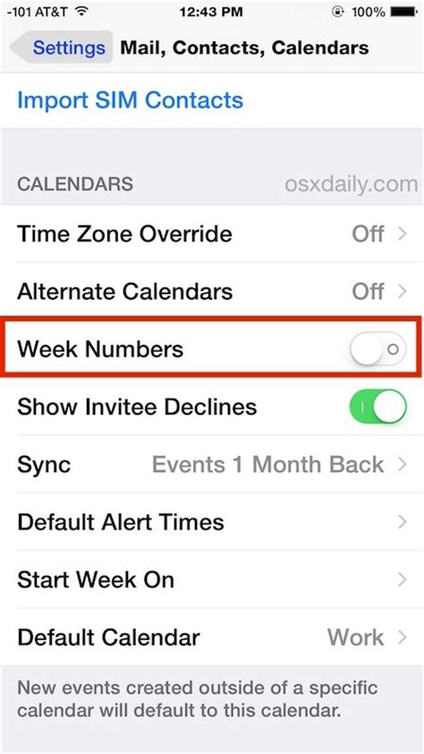 Calendar Which Shows Week Numbers How To Show Week Numbers In Calendar For Iphone