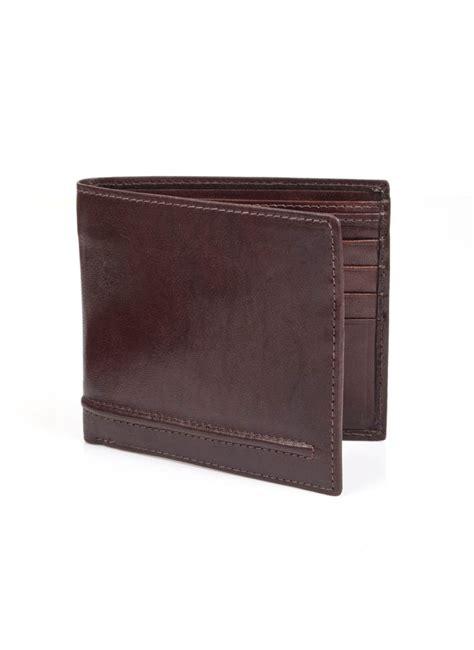 Mocca Leather Wallet dents billfold wallet cognac italian leather