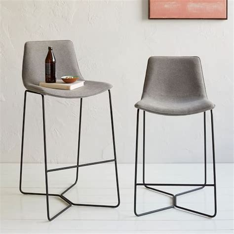 upholstered kitchen bar stools slope upholstered bar counter stools 269 steel legs in