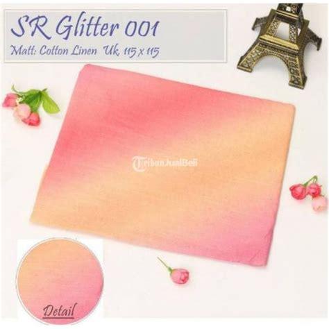 Segi Empat Linen Rubiah Gliter Silver jilbab segi empat sr gliter dian pelangi bahan katun harga murah bandung dijual tribun