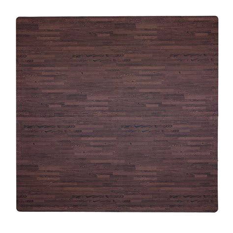 tadpoles wood print cherry 50 in x 50 in floor mat