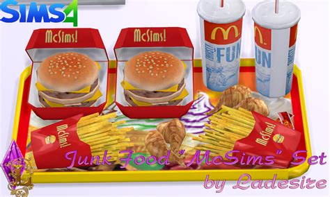 sims 4 food cc ladesire s creative corner ts4 quot mcsims junk food quot by
