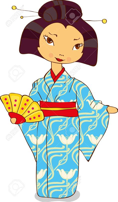 geisha clipart kimono clipart clipground