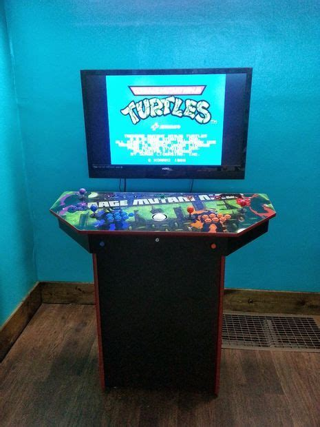 4 player pedestal arcade cabinet for mame arcade
