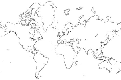 world outline map world mappery