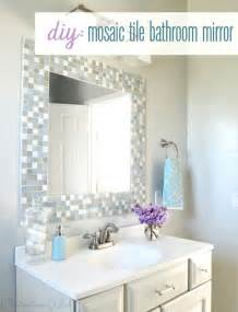 diy bathroom mirror frame ideas your own mosaic tile bathroom mirror diy projects decozilla