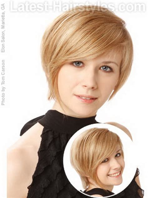 short hairstyles frame face short haircut for round face