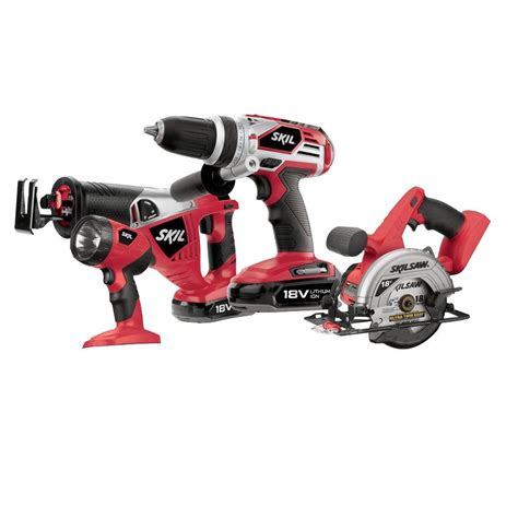 skil 18 volt lithium ion cordless combo kit with circular