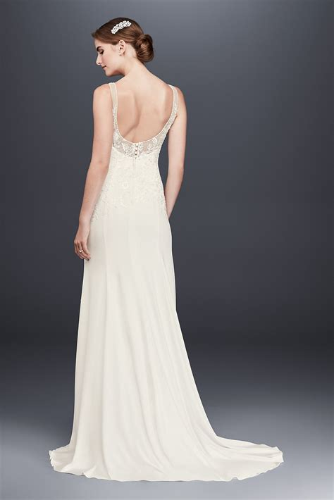 Tank Style Wedding Dresses by 2018 New Tank V Neck Lace Appliqued Wg3874