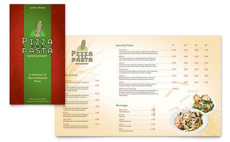 Microsoft Publisher Menu Templates by Italian Pasta Restaurant Menu Template Word Publisher