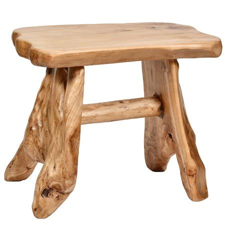 Wood Stool End Table by Welland Cedar Wood Stool End Table Side Table Walmart