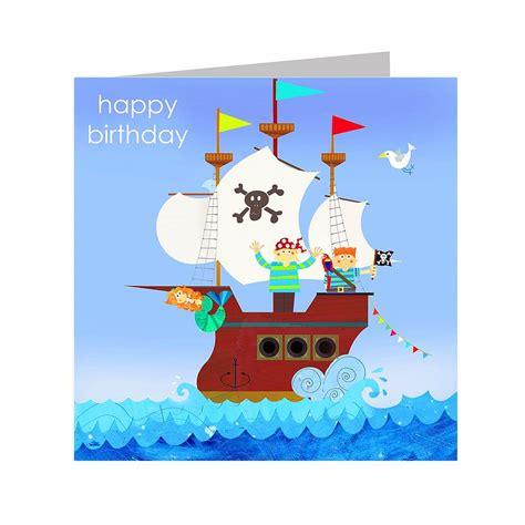 Pirate Birthday Card Pirate Ship Birthday Card By Kali Stileman Publishing