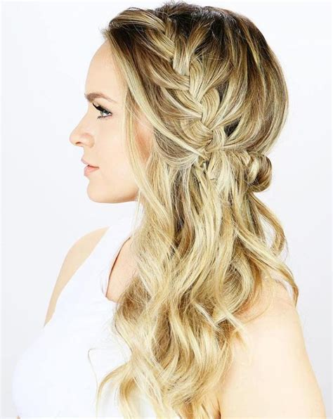 blonde mannequin hairstyles with rubber bands best 25 braided half updo ideas on pinterest office