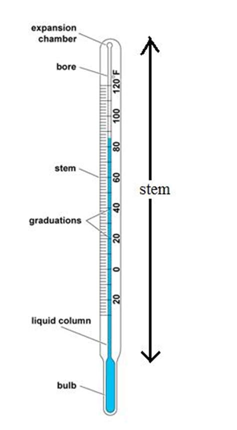 clinical thermometer labeled diagram thermometry 4 liquid in glass thermometers