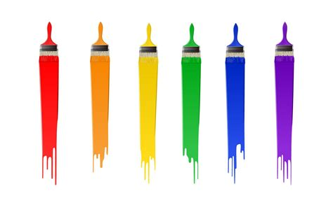 brush up on paintable wallpaper for a posh look colorful paint brushes wallpaper