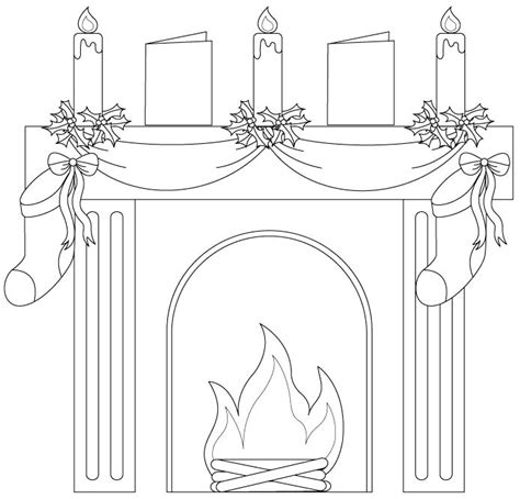 coloring page christmas fireplace 25 best fireplaces images on pinterest coloring pages