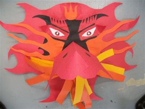 new year mask lesson mask paper sculpture project ideas