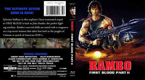 film blue rambo rambo first blood part ii dvd covers and labels