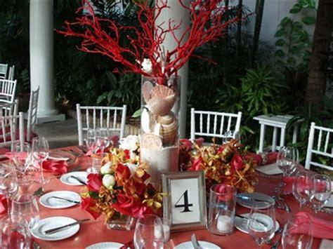 coral reef centerpieces the sea wedding theme weddingbee