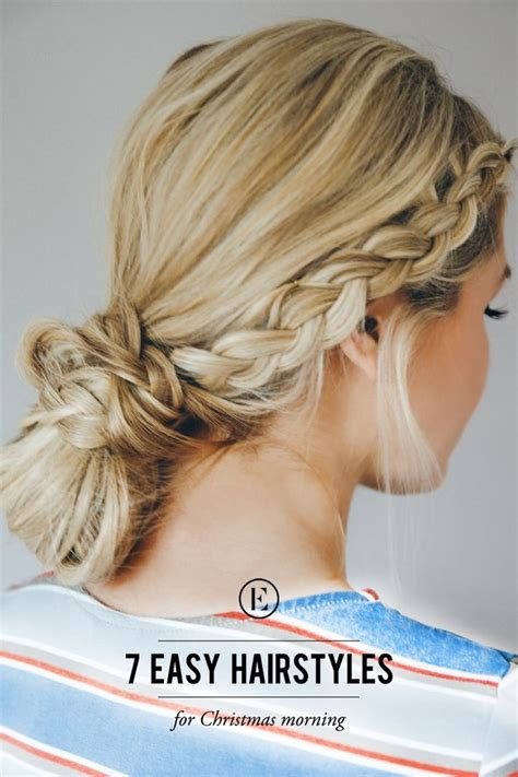 7 easy hairstyles for morning is hair styles braid bun curly hair