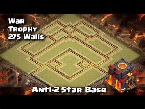 town hall 10 war base 275 walls clash of clans new town hall 10 war base with live replay