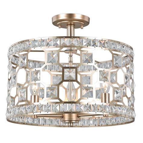 light gold accessories light gold home decor decor living anastasia 3 light gold painted crystal semi