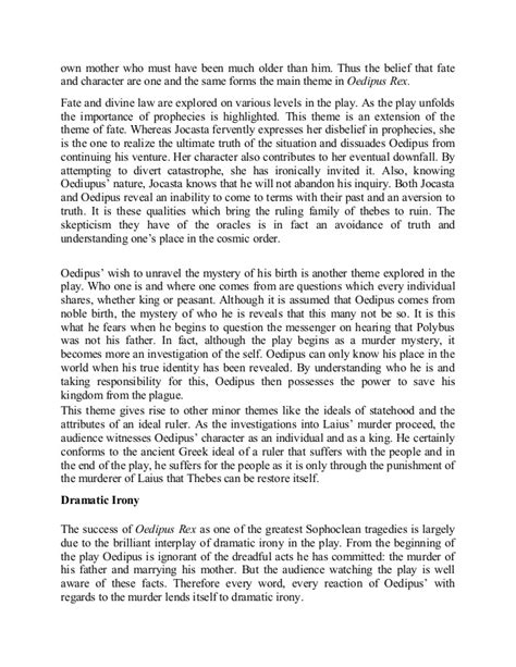 Essay About Oedipus The King by King Lear And Oedipus Rex Essay Durdgereport492 Web Fc2