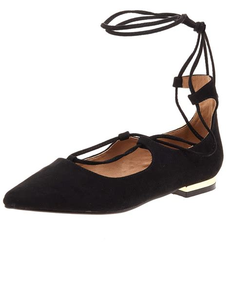 Low Heel Pointed Flats blue inc womens black suede pointed flats lace up low