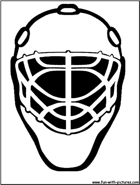 printable goalie mask hockey mask coloring pages