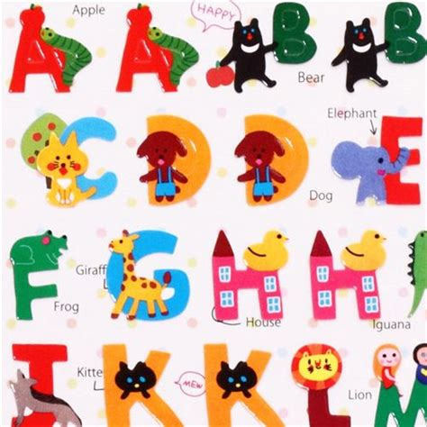 Lettre Decorative Pour Chambre Bébé by Abc Animals Alphabet Stickers From Japan Animal Stickers