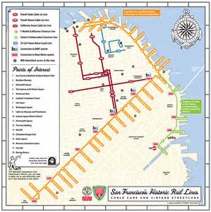 Maps Of San Francisco by San Francisco Cable Car Railfan Guide