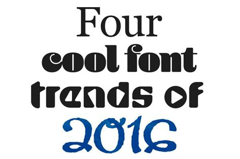 Trend Handmade Font - four font trends to make self print designs stand out