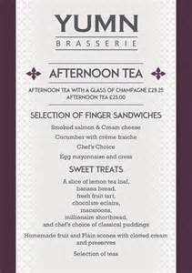 afternoon tea welcome to yumn brasserie