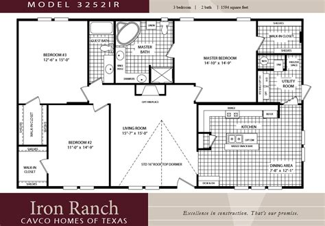 cavco homes floor plans house plans 2 bedroom 2 bath ranch mibhouse com