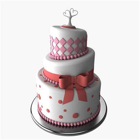 wedding cake model 3d model stylized wedding cake
