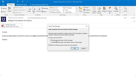 Office 365 Outlook Recall Message Recall A Message In Outlook And Lesson