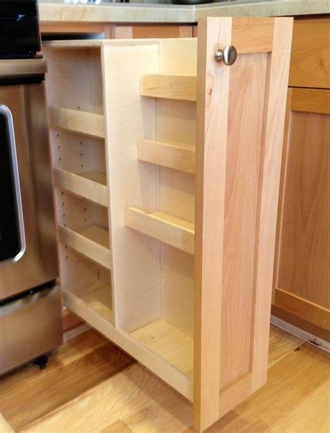 pull out cabinet handmade pull out spice rack by noble brothers custom