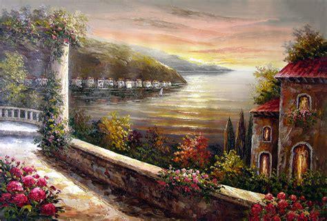 landscape paintings reviews landscape mid east seascape 1 no 74 landscape