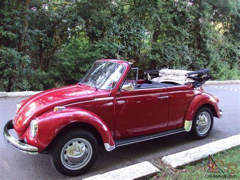 red volkswagen convertible vw beetle karmann cabriolet volkswagen 1303 s red convertible