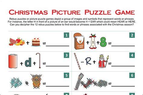 printable christmas puzzle games christmas printables