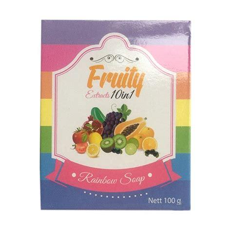 Sabun Rainbow jual fruity rainbow soap 10 in 1 sabun mandi
